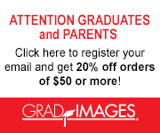 A banner that says: Click here to register your email and get 20% off orders of $50 or more.